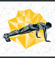 geometric crossfit concept vector image vector image