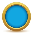 Gold empty icon vector image