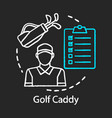 golf caddy chalk icon sport coach trainer player vector image vector image