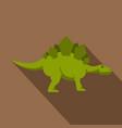 green stegosaurus dinosaur icon flat style vector image vector image