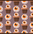 halloween party colorful sweets cupcakes seamless vector image vector image