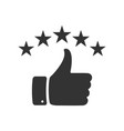 hand with thumb up and stars icon for your design