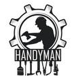 handyman symbol and tool set vector image vector image