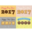 Happy New Year 2017 Cookies font vector image