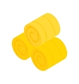 Hay roll isometric 3d icon vector image