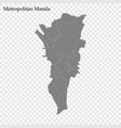 high quality map region philippines vector image