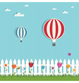 hot air balloons vector image vector image