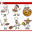 international cuisine chefs cartoons