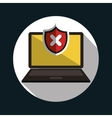 laptop error warning design vector image vector image