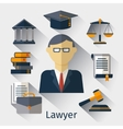 lawyer attorney or jurist concept vector image