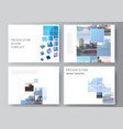 layout presentation slides design vector image