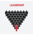Leadership and teamwork concept vector image vector image