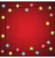 luminous garland frame vector image vector image