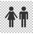 Male and female sign Dark gray icon on vector image vector image