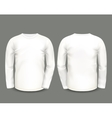 Mens white sweatshirt long sleeve vector image vector image