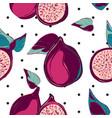 modern botanical pomegranate fruit surface design vector image vector image