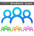 people symbol icon design vector image vector image