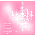 Pink background with chandelier vector | Price: 1 Credit (USD $1)