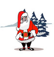 santa claus standing isolated on white background vector image vector image