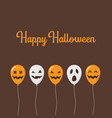 scary air balloons for halloween poster vector image vector image