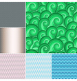Set colorful patterns vector image vector image