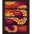 Set of elegant banners with golden royal ornament vector image vector image