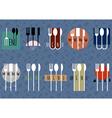set of stylish restaurant menu design vector image vector image