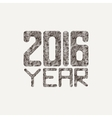 sign for a new 2016 of fancy elegant vector image vector image