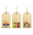 tags with toys vector image vector image