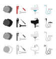 tools equipment plumbing and other web icon in vector image vector image