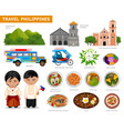 travel to philippines filipinos in national dress vector image vector image