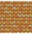 tribal triangle seamless pattern Geometric vector image vector image