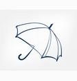 umbrella one line isolated design element vector image
