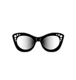 Vintage cat eye eyewear for ladies vector image