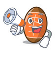 with megaphone rugby ball character cartoon vector image vector image