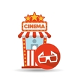 cinema movie ticket office glasses 3d graphic vector image