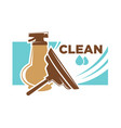 clean survice emblem with spray and brush vector image