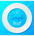 Applique Background with Textured Circle vector image