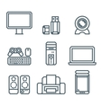 Home appliances modern linear modern concept vector image