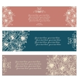 Set of three abstract floral banners vector image