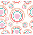 abstract circles seamless background vector image vector image