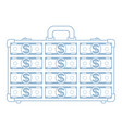 abstract suitcase icon vector image vector image