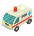 ambulance icon isometric style vector image vector image