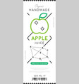 apple juice label in trendy linear style vector image