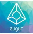 augur rep blockchain cripto currency logo vector image vector image