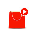 bag buy paper play shopping store icon vector image vector image