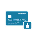 bank card personal user icon vector image