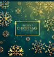 beautiful premium golden snowflakes background vector image vector image