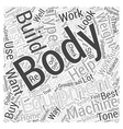 Body Building Equipment Word Cloud Concept vector image vector image