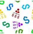 Boss Payments Flat Seamless Pattern vector image vector image